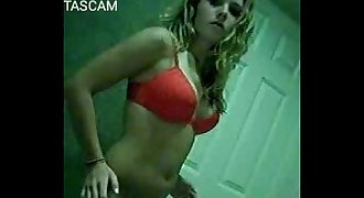 young woman naked on web cam
