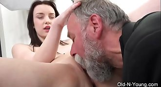 Old-n-Young.com - Lenka C- Old Guy Enjoys a Teen