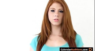 Cute Amateur Redhead Teenage At Casting