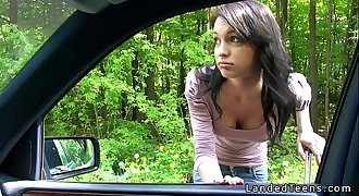 Amateur teenage fucking pov outdoor by the road