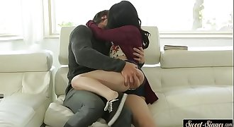 Petite stepdaughter fucked passionately