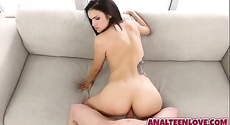 Teen Eden Sinclair needs a hard-on to fill her asshole up with spunk