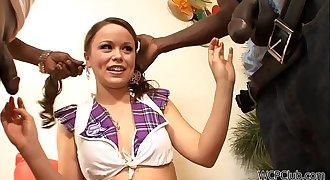 Tiny Schoolgirl Thick black cocks